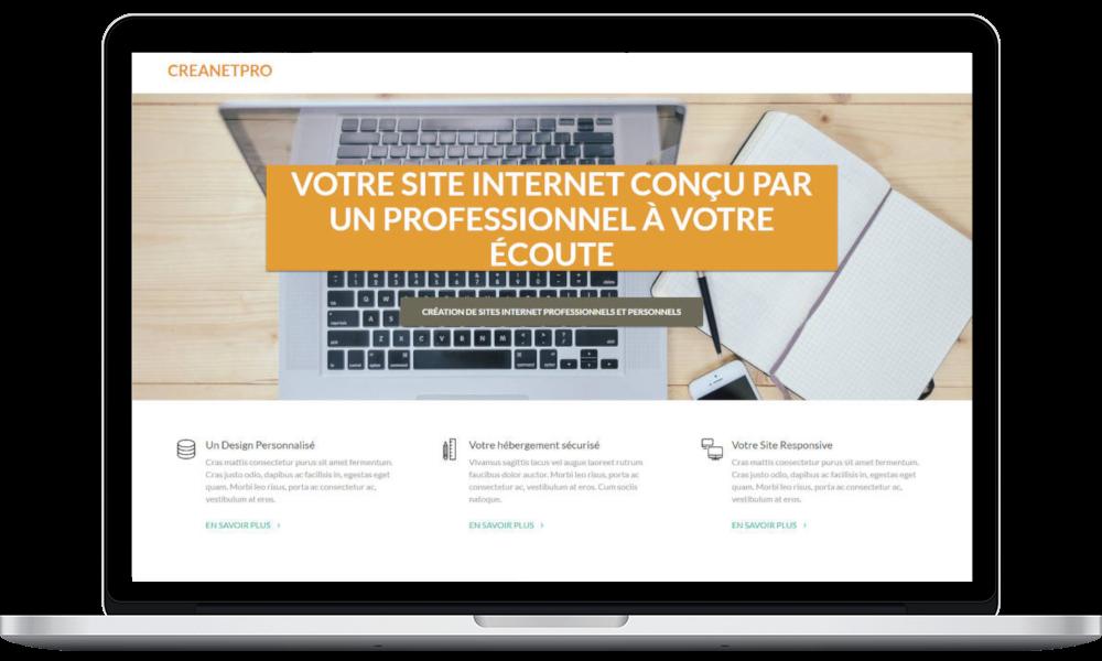 Création de sites internet - écran