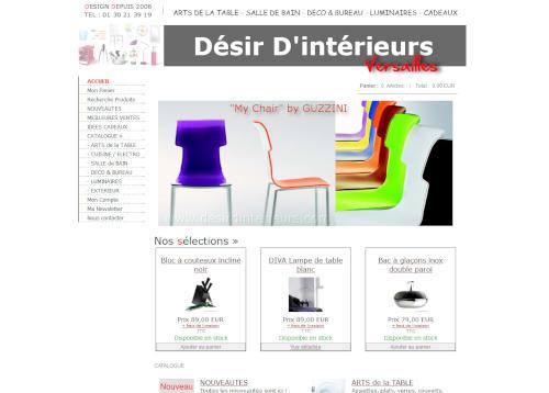 Création de sites internet - desirdinterieurs.com